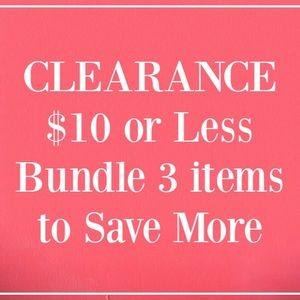 CLEARANCE - $10 or Less Brandname Clothes